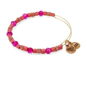 Alex and Ani  Dragonfruit Coral Beaded Bangle